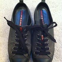 Prada Gray/black Leather Shoes Size 39 Photo