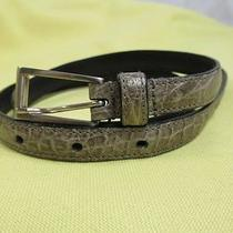 Prada Gray Crocodile Women Belt Vintage Made in Italy   Photo