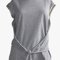 Prada  Gray Nude Stretch Jersey Knit Sleeveless Wrap Style Casual Top Sz M Nwt Photo