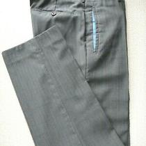 Prada Gray Striped Pants Size 48 It/38 Us. Photo
