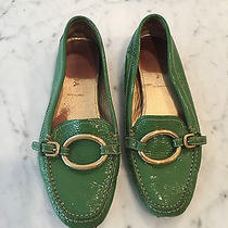 Prada Green Patent Leather Loop Ring Slip on Loafers Moccasins Women's 38  Us 8 Photo