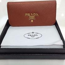 Prada Key Holder Case 6 Ring Brown Leather Photo