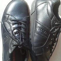 Prada Kids Sneaker Shoes Leather Black Beautiful  Photo