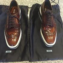 Prada Lace Up Wingtip Shoe Photo