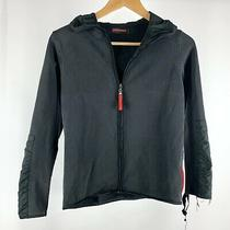 Prada Ladies Black Fleece Zip Up Jacket Sweater W/ Hood Photo