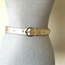 Prada Leather Belt in Gold Photo
