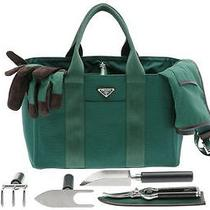 Prada Limited Edition Gardening Bag With Tools Gloves and Apron Handbag Photo