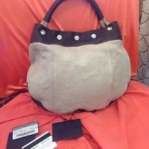 Prada Linnen and Leather Hobo Retail Price 695.00 Photo