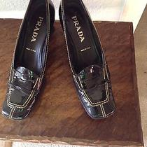 Prada Loafers Sz 37 Black Solid Photo
