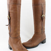 Prada Luggage Brown Distressed Knee High Leather Pull on Boot Shoe Size 36 6 Photo