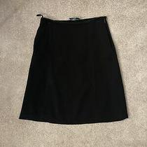 Prada Made in Italy Black Cotton Blend Women's Pleated a-Line Skirt Size 38 Photo