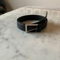 Prada Men's Black Leather Belt Size 38/95 Brand New Never Worn Photo