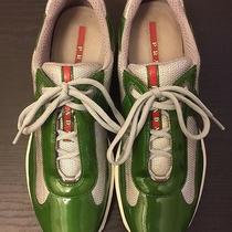 Prada Men's Vernicebike Sneakers - Green and Grey - Size 8.5 Photo