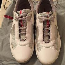 Prada Men Sneakers Mens Sz 9.5 White Photo