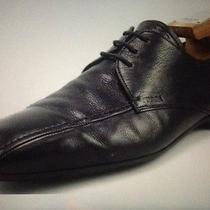 Prada Mens Shoes 8.5.9.5 Us Leather Lace Up Oxfords Black Photo