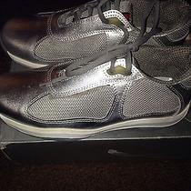 Prada Mens Silver Low Top Sneaker Size 11 or 10.5 Photo