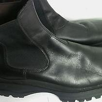 Prada Mens Sport Black Leather Shoes Boots Size 11 Photo