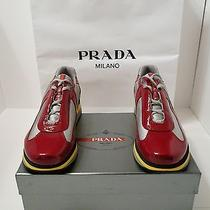 Prada Mens Vernicebike 1 Rubinoargento  America Cup Sneaker Shoes  Size Us 13 Photo