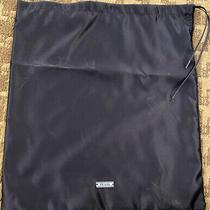 Prada Midnight Blue Silky Satin Travel Storage Shoe Purse Dust Bag  13 X 15 Photo
