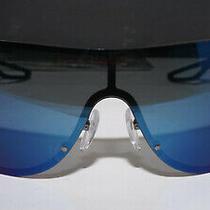 Prada New Sunglasses Sport Shield Black Blue Iridium Ps 61us 9p19p1 40 130 Photo