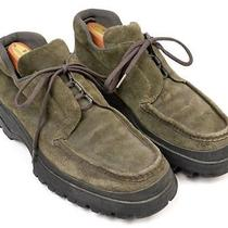 Prada Olive Green Suede Hiking Boots Ankle Mens Casual Shoes Size 9 Photo