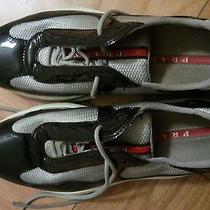 Prada Patent Leather & Mesh Women's Sneaker Size 8 (Eu 38) Photo