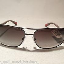 Prada Ps 50os Mens Sunglasses Linea Rossa Gunmetal & Green Brand New W/tags Photo