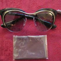 Prada Runway Round Retro Black Sunglasses Authentic Nwt   Sale Photo
