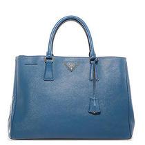 Prada Saffiano Lux Large Tote Bag Purse Handbag Bn1844 Cobalto Blue Photo