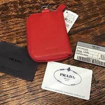 Prada Saffiano Show Portamonete Zip Around Coin Purse Wallet 2m0268 Photo