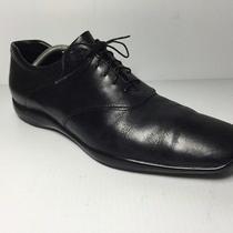 Prada Shoes 545 Black Iconic Logo Sole Lace Up Size 11 Photo