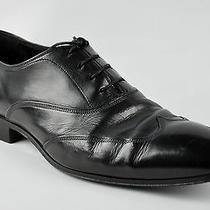 Prada Shoes 7 (41) Black Leather Wingtip Lace Ups Dressed Formal Shoes Designer  Photo