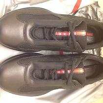 Prada Shoes Americas Cup Balck Leather Size 7.5 Photo
