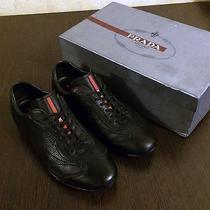 Prada Shoes Black Leather Sneakers Photo