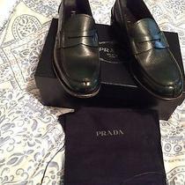 Prada Shoes  Dk Green Spazzolato Roya  Penny Loafer Size Us 11 Prada 10 Photo
