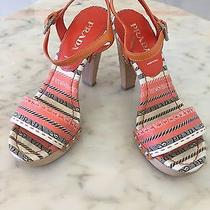 Prada Shoes for Women Size 36.5 Orange Photo