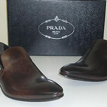 Prada Shoes Man Brown Leather Nuanced Size 9/42 Photo