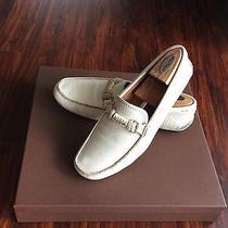Prada Shoes Men White Leather Driver Us 9.5 Photo