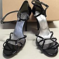 Prada Shoes Sexy Strap Black Patent With Accent Color on Heel 41 Photo