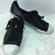 Prada Shoes Size 8.5 / 9.5 Us Mens Black Designer Low-Top Chucks Photo
