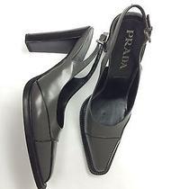 Prada Shoes Slingback Pumps Grey Photo