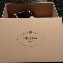 Prada Shoes Wine Colored Size 38.5 4 in High Heel  Photo