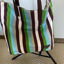 Prada Shoulder Tote Bag Green Stripes Photo