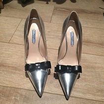 Prada Silver Pointy Shoes  Photo