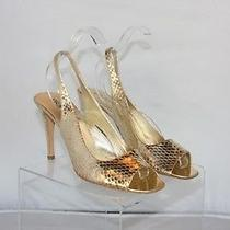 Prada Snakeskin Gold Heels Photo