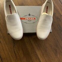 Prada Sneaker Loafer Women Size 38.5 White Photo