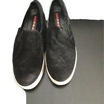 Prada Sport Black Suede Platform Flats Sneakers 37 Pre Loved Photo