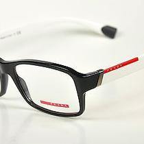 Prada Sport Eyeglasses Vps 05c  Col. 1ab-1o1  Black-White  New Photo