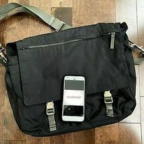 Prada Sport Luna Rossa Black Nylon Messenger Bag Used  Photo
