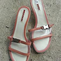 Prada Sport Pink Slide Kitten Heel Sandals Photo